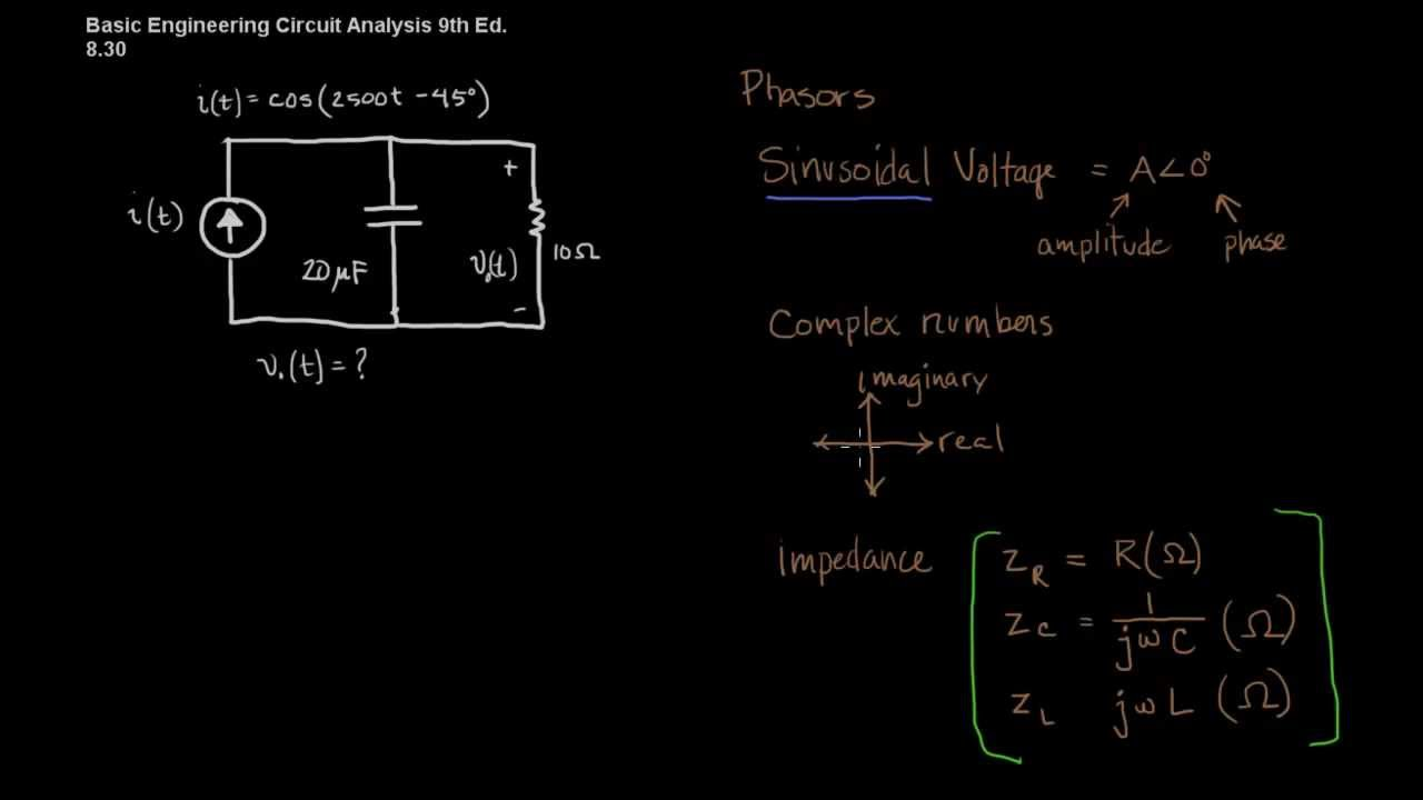Steady state circuit analysis with phasors youtube ccuart Image collections