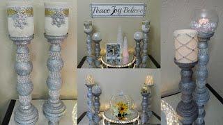 Dollar Tree DIY Christmas Home Decor 2019| Dollar Tree DIY Candle Holder's & Elegant Lighted Tray