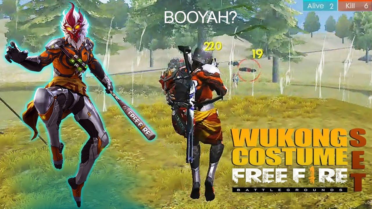 SOLO RANKED PAKAI KOSTUM WUKONG - PURGATORY MAP AUTO BOOYAH?!? FREE FIRE INDONESIA