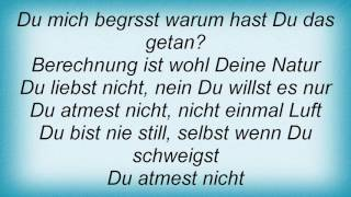 Rosenstolz - Du Atmest Nicht Lyrics