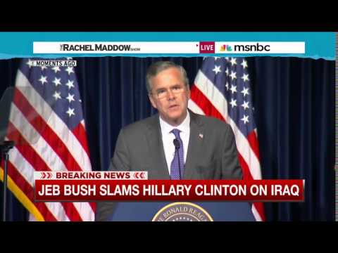 Jeb Bush targets Hillary Clinton in foreign policy speech