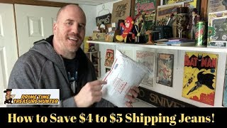 How to Save Money Shipping 2 Pairs of Jeans in the Padded Flat Rate USPS Priority Mail Envelope