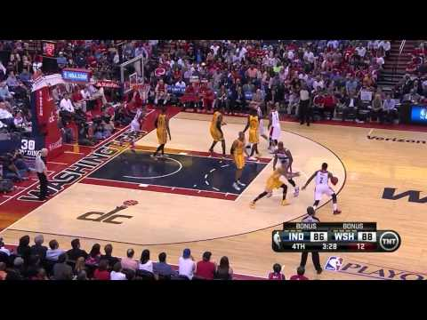 NBAPlayoffs: John Wall vs Indiana Pacers 2014.05.11 (2st Round - Game 4)