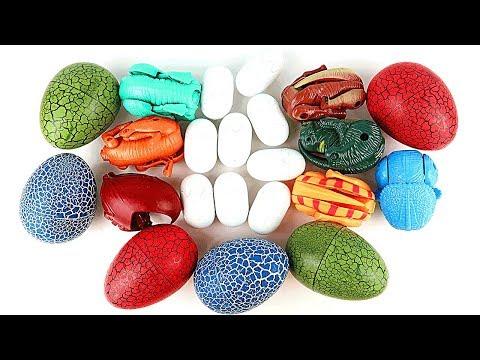 100++ Lots of Dinosaur Eggs! 4D Puzzle, Transforming Eggs, Dinosaur Lego Toys, 공룡메카드 타이니소어 공룡알 부화