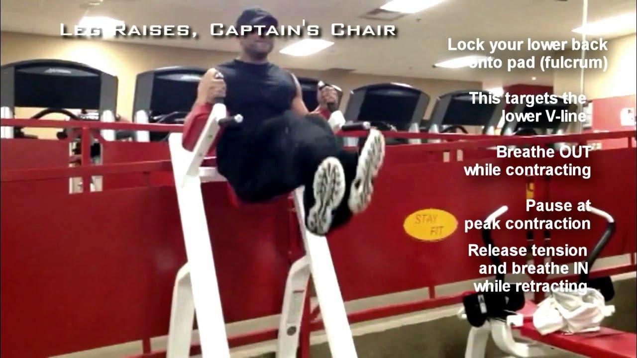 Captains chair leg raise muscles worked - Leg Raises Captain S Chair Demo Clip