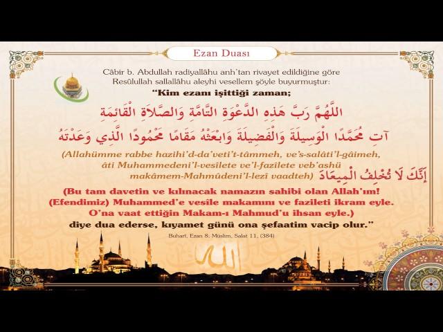 Ezan Duası Ezan Ve Kamet Türkçe Ve Arapça Yazılışı Okunuşu Ve Anlamı