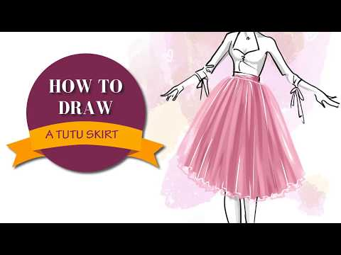 HOW TO DRAW A TUTU SKIRT STEP BY STEP