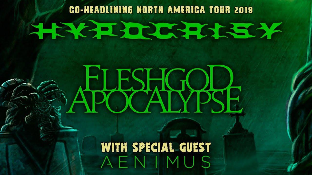 "Hypocrisy, Fleshgod Apocalypse, Aenimus — ""Death Is Just The Beginning"" North American Tour 2019"