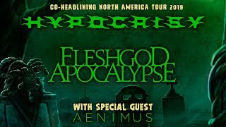 "Hypocrisy, Fleshgod Apocalypse, Aenimus – ""Death Is Just The Beginning"" North American Tour 2019"