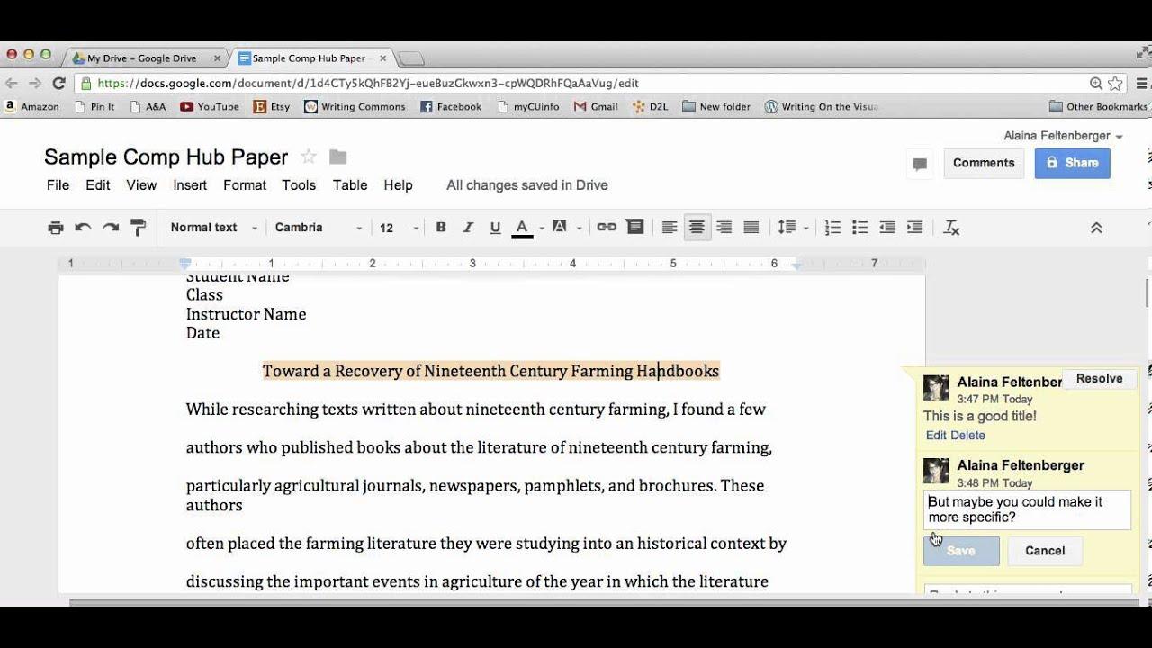 write a document on google