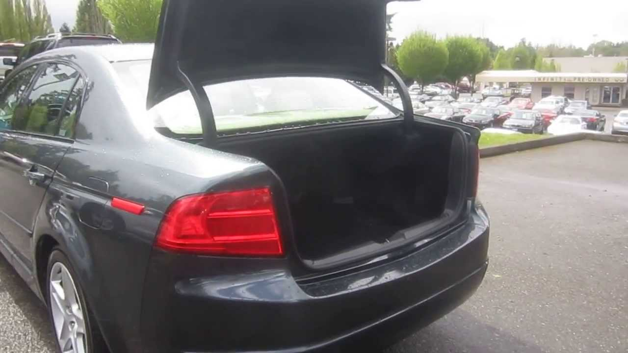 2004 acura tl green stock 13473a trunk [ 1280 x 720 Pixel ]
