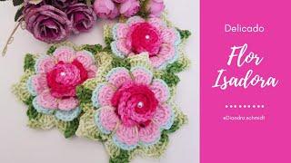 Flor de Crochê – Flor Isadora