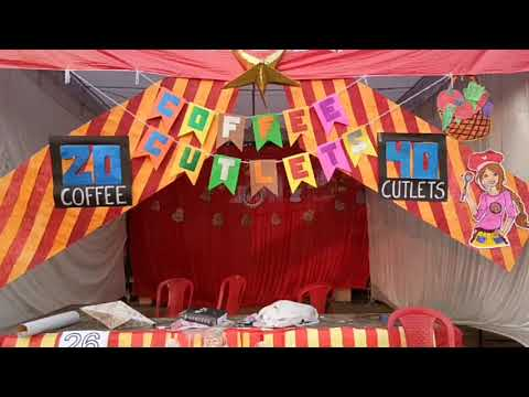 DIY Banner for Stall using Craft Sheets