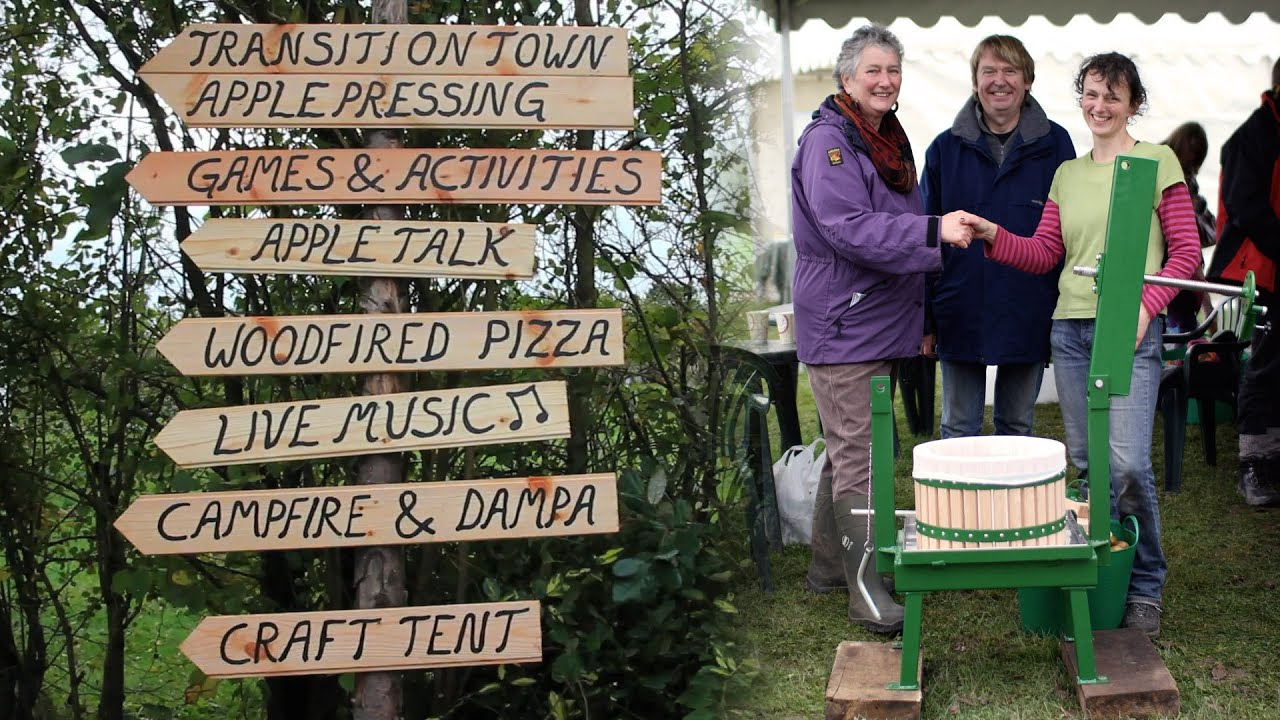 Blackdown Hills Transition group apple pressing at Stentwood farm