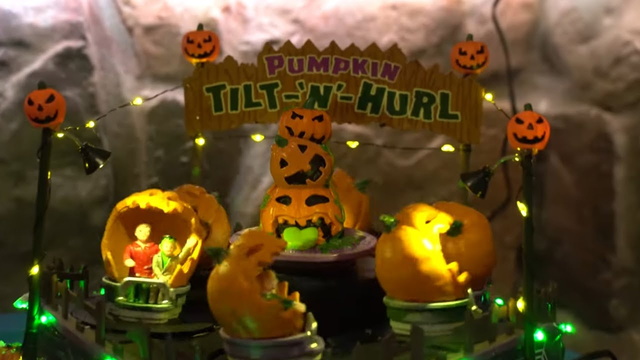 Halloween Decorations 2019 Lemax Spooky Town Pumpkin