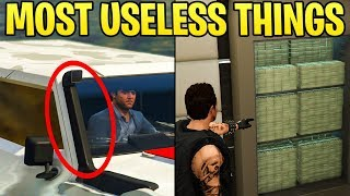 TOP 15 MOST USELESS ITEMS & FEATURES IN GTA ONLINE