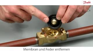 Wie reinigt man ein Danfoss EV220B NC Magnetventil