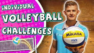 Fun Volleyball challenges for PE (elementary grade 3-6) | Teach volleyball skills