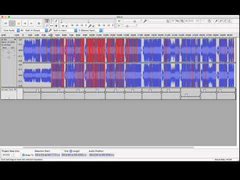 Album Recording Editing via Audacity