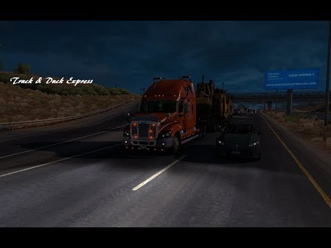 American Truck Simulator: # 495 Freight liner Hauling Scrapper Pan 40 tons MHApro Map 1 28