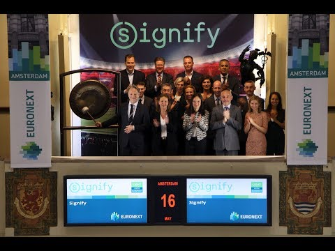 Gong for first trading day as Signify
