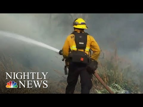 More Than 4,000 Firefighters Battling Wildfires In Santa Barbara County   NBC Nightly News