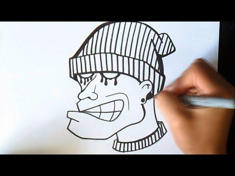 cómo dibujar caracter Graffiti
