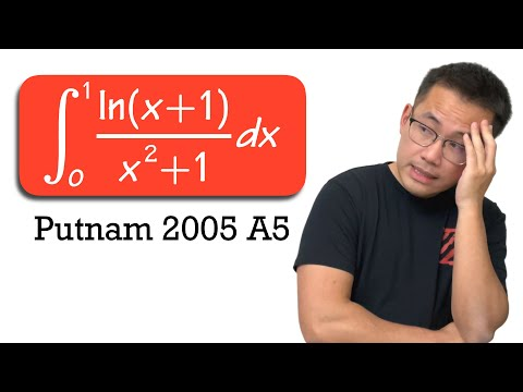 a Putnam Exam integral for calc 2 students, integral of ln(x+1)/(x^2+1) from 0 to 1