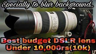 Top 5 DSLR lenses under 10,000rs(10k) to blur background in hindi | Best lens to blur background