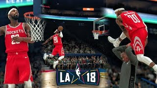 JUMPING FROM FREE THROW LINE IN ALL-STAR DUNK CONTEST! NBA 2K18 My Career Gameplay Ep. 22