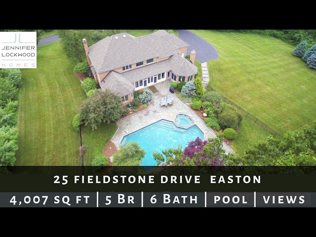 Easton CT Real Estate Home for Sale: 25 Fieldstone Dr  Gorgeous Colonial, geothermal heating & pool!