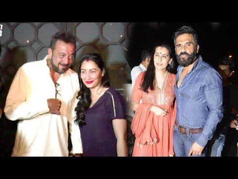 DRUNK Sanjay Dutt's Karva Chauth Party 2016 Full Video HD - Manyata,Suniel Shetty,suzanne roshan