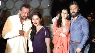 DRUNK Sanjay Dutt With Wife Manyata & Suneil Shetty After Karva Chauth Party 2016