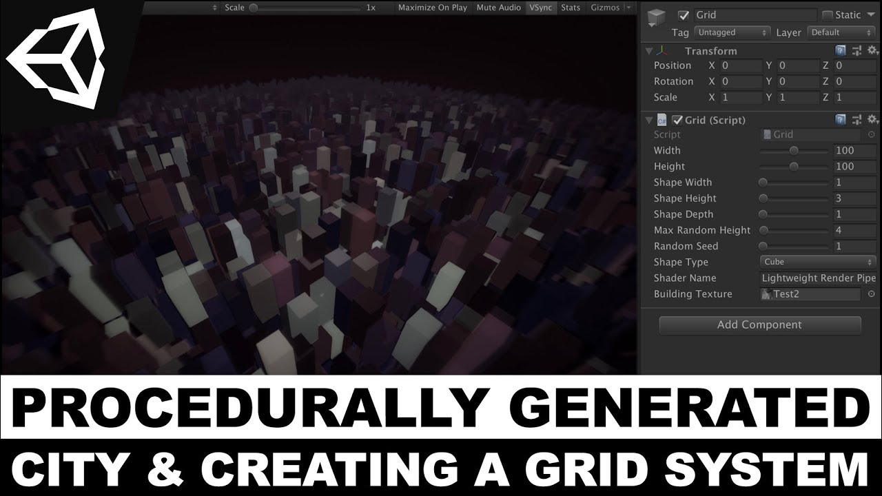 Unity3d Procedural Generation - Procedurally Generated City