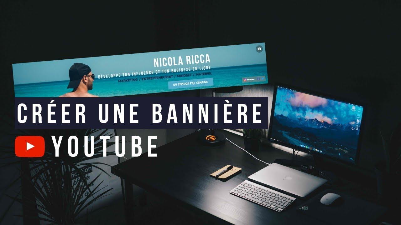 Comment créer une bannière YouTube sans logiciel (2019)