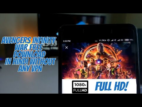 AVENGERS INFINITY WAR FREE DOWNLOAD in HINDI without any VPN || Direct download