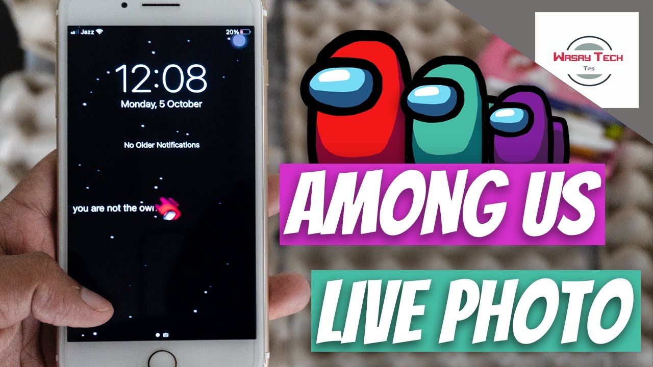 How To Have Among Us Live Wallpaper On Your Iphone Among Us Live Photo On Iphone Flexonyall Youtube