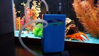 Посылка для аквариума - компрессор на батарейках
