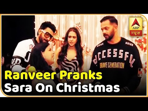 Watch How Ranveer Singh & Rohit Shetty Prank Sara On Christmas | ABP News
