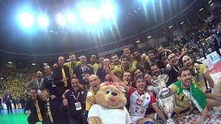 11-01-2015: I selfie di Tore l'orsetto schiacciatore alla Del Monte Coppa Italia SuperLega
