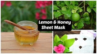 Lemon & Honey Skin Lightening Facial Sheet Mask For Dark Spots, Acne Scars & Pigmentation