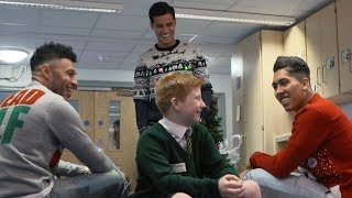 School pupils get a Christmas surprise from Coutinho Firmino and Ox  THE REACTIONS ARE PRICELESS