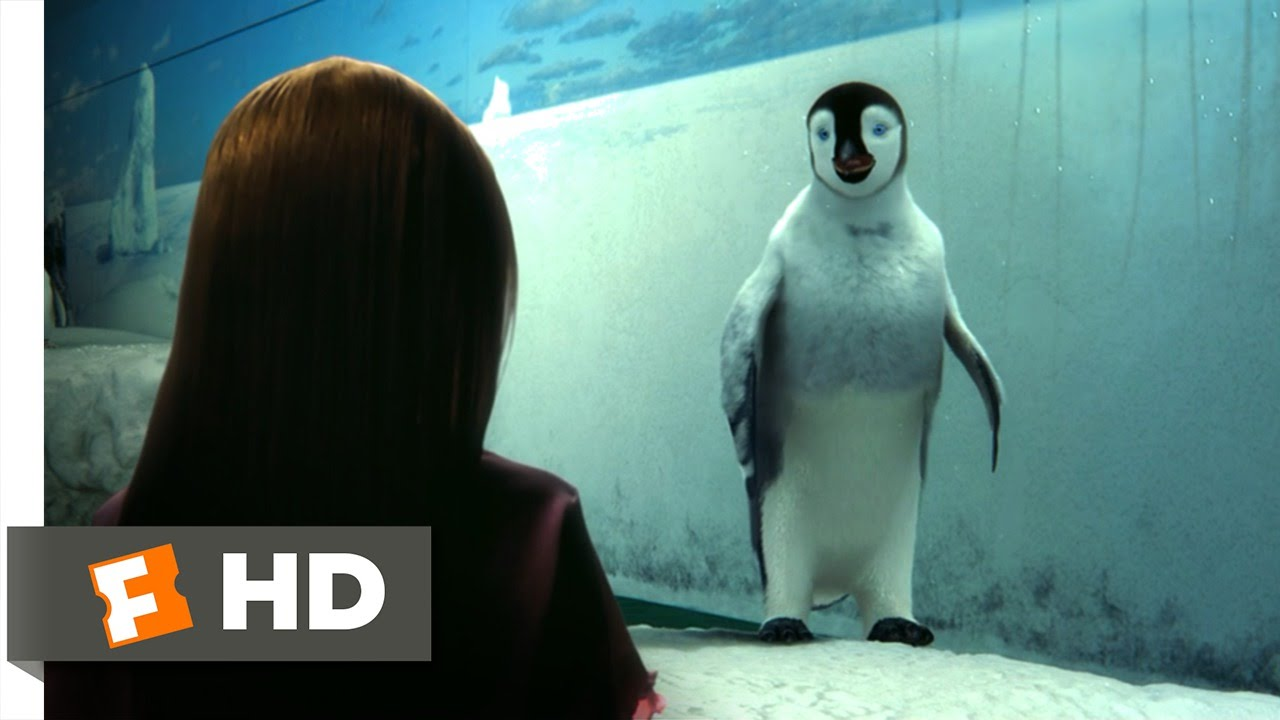 Happy Feet (9/10) Movie CLIP - Mumble Makes Contact (2006) HD