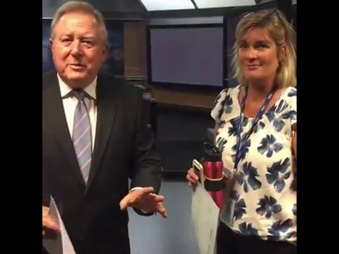 Peter Hitchener - Behind the Scenes Tour of Nine News Melbourne
