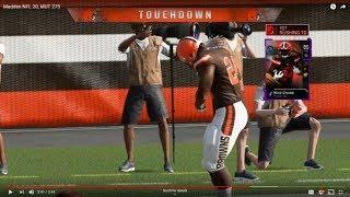 Madden NFL 20, MUT 275 Nick Chubb game play TD!!