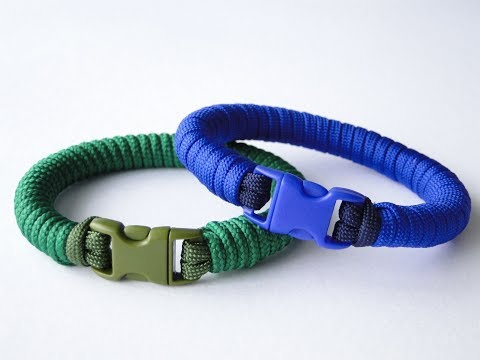 """How to Make a """"Common Whipping"""" Knot Paracord Survival Bracelet-Buckle Version"""