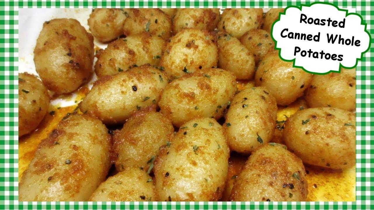Oven Roasted Aldi Canned Whole Potatoes Side Dish Recipe Youtube