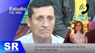 CARLOS SUBIRANA RESPONDE CONDOLENCIA A SISSY ARIAS 29 11 16