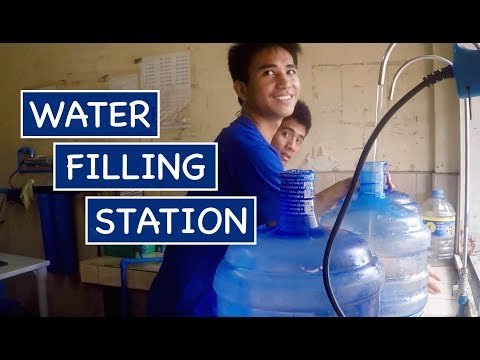 Drinking water station, time to get a refill - Cebu City - Philippine daily life