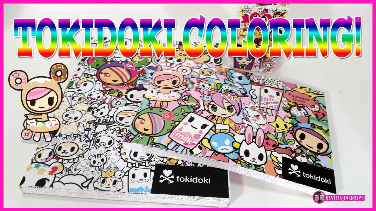 tokidoki mania! coloring book postcards and barbie blind